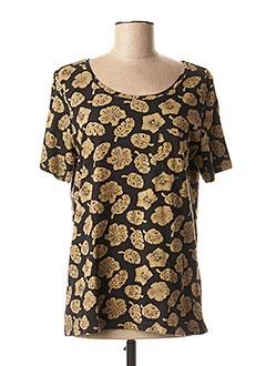 T-shirt manches courtes beige SCOTCH & SODA pour femme