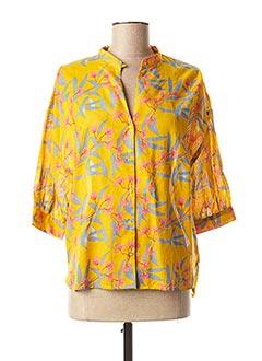 T-shirt manches longues jaune HARRIS WILSON pour femme