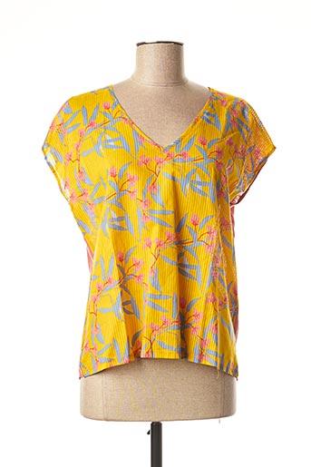 T-shirt manches courtes jaune HARRIS WILSON pour femme