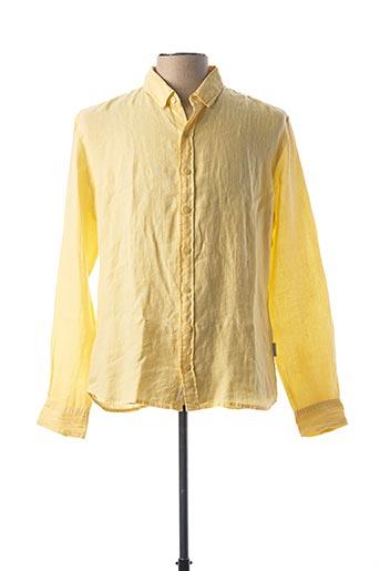 Chemise manches longues jaune HARRIS WILSON pour homme