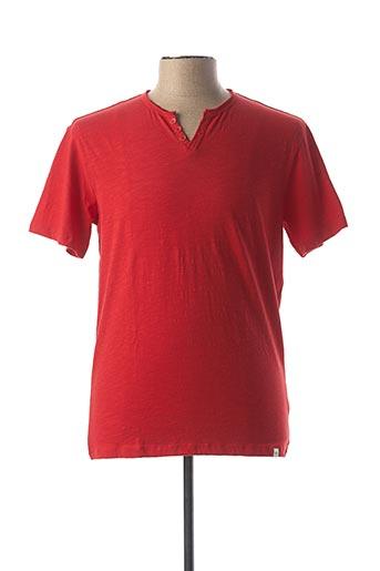 T-shirt manches courtes rouge HARRIS WILSON pour homme