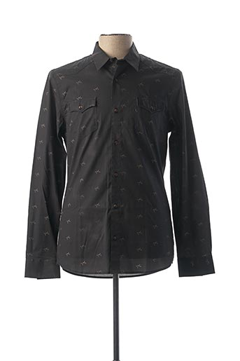 Chemise manches longues noir PEARLY KING pour homme
