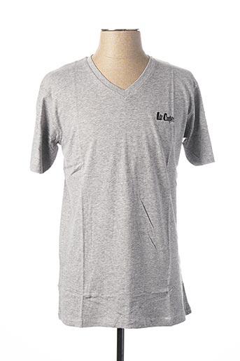 T-shirt manches longues gris LEE COOPER pour homme