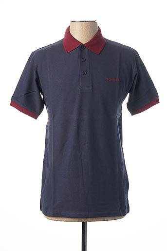 Polo manches courtes bleu DONNAY pour homme