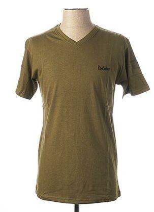 T-shirt manches courtes vert LEE COOPER pour homme