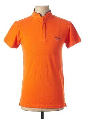 Polo manches courtes orange TORRENTE pour homme