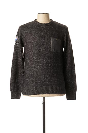 Pull col rond noir CAMBERABERO pour homme