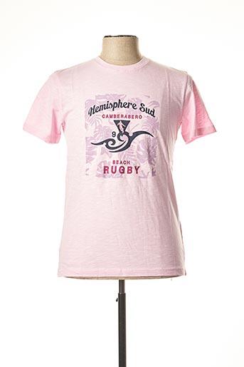 T-shirt manches courtes rose CAMBERABERO pour homme