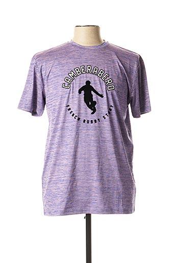 T-shirt manches courtes violet CAMBERABERO pour homme