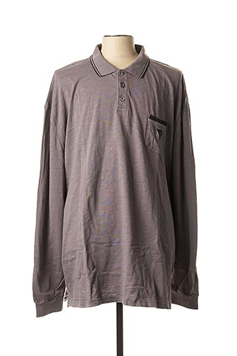 Polo manches longues gris CAMBERABERO pour homme