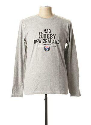 T-shirt manches longues gris CAMBERABERO pour homme