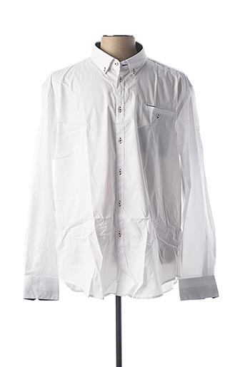 Chemise manches longues blanc CAMBERABERO pour homme