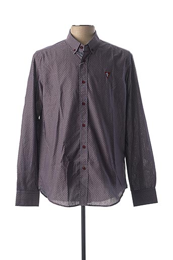 Chemise manches longues rouge CAMBERABERO pour homme
