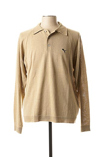 Pull col chemisier beige PUMA pour homme