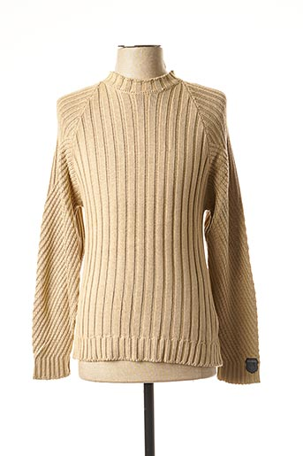 Pull col cheminée beige TEDDY SMITH pour homme