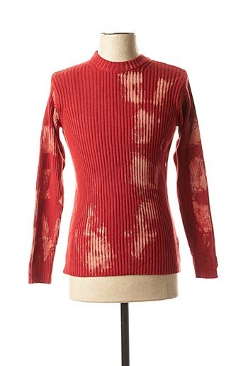 Pull col cheminée rouge TEDDY SMITH pour homme
