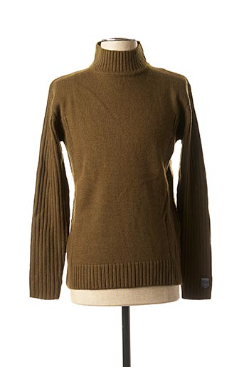 Pull col cheminée vert TEDDY SMITH pour homme