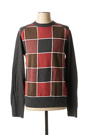 Pull col rond gris BLEND pour homme