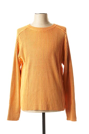 Pull col rond orange BLEND pour homme