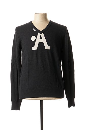 Pull col V noir A-STYLE pour homme