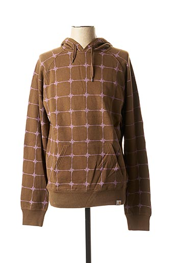 Sweat-shirt marron CARHARTT pour homme