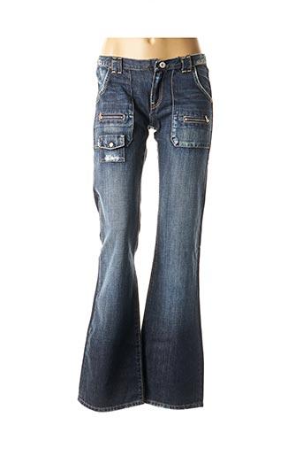 Jeans bootcut bleu RWD pour fille