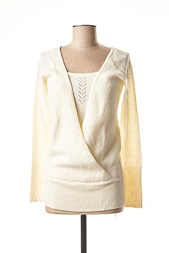 Pull col rond beige 2 TWO pour femme