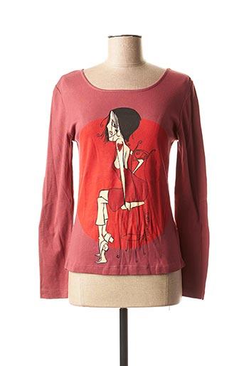 T-shirt manches longues rouge PHINEAS pour femme