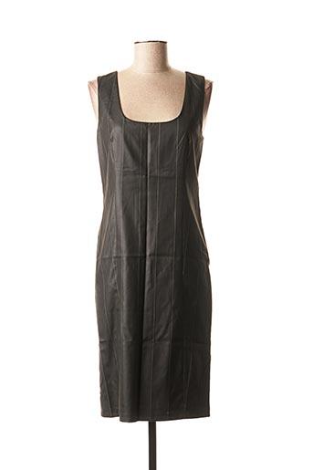 Robe mi-longue noir LOLA pour femme