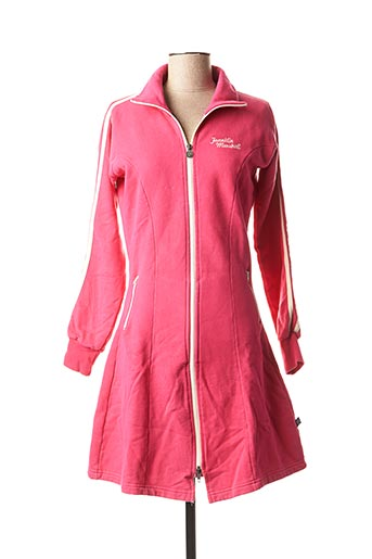 Robe mi-longue rose FRANKLIN MARSHALL pour femme