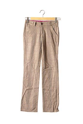 Pantalon chic marron CIMARRON pour fille