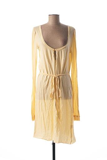 Robe mi-longue jaune AMERICAN VINTAGE pour femme