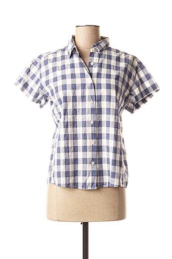 Chemisier manches courtes bleu MAISON SCOTCH pour femme