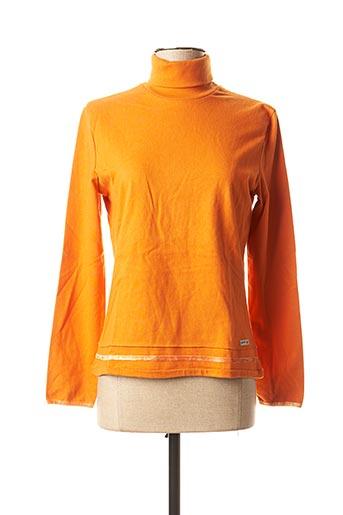 T-shirt manches longues orange GAS pour femme