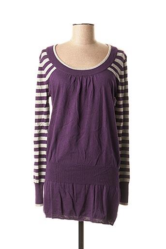 Pull tunique violet 2 TWO pour femme