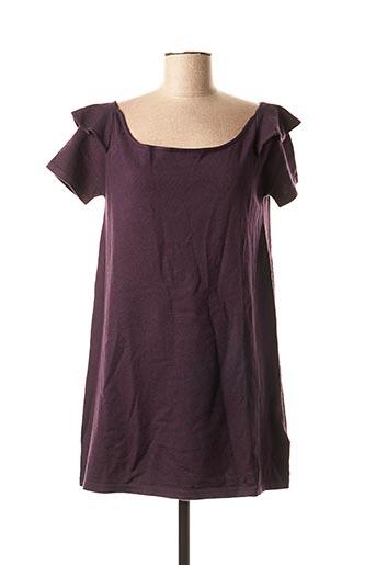 Pull tunique violet BEYOUK pour femme