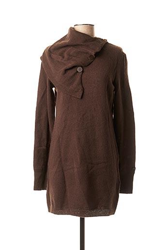 Robe pull marron FIRETRAP pour femme