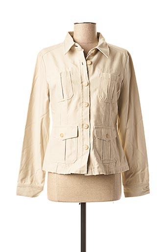 Veste casual beige TEDDY SMITH pour femme