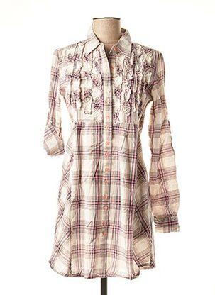 Robe courte rose ICHI pour femme