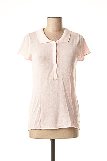 Pull col chemisier rose NOT SHY pour femme