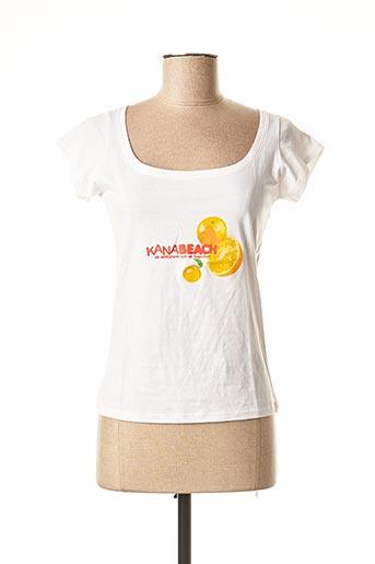 T-shirt manches courtes blanc KANA BEACH pour femme