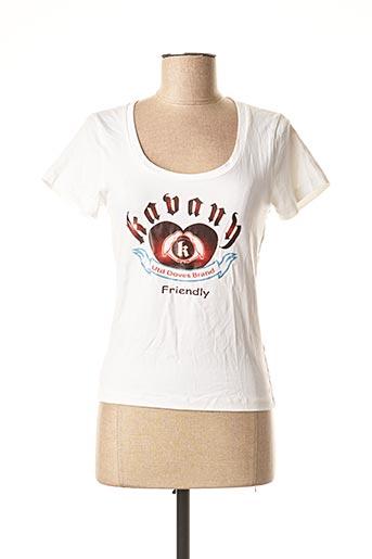 T-shirt manches courtes blanc KAVANY pour femme