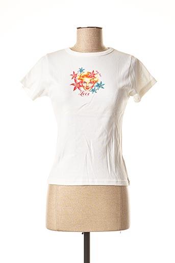 T-shirt manches courtes blanc TEDDY SMITH pour femme