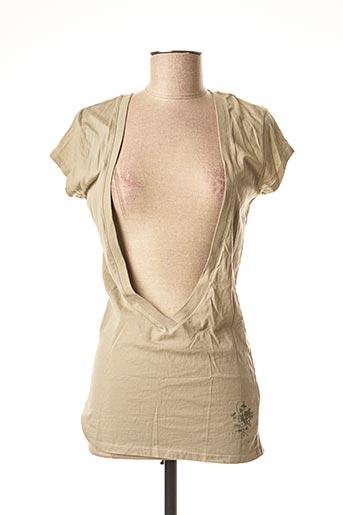 T-shirt manches courtes vert CHILLI PEPPER pour femme