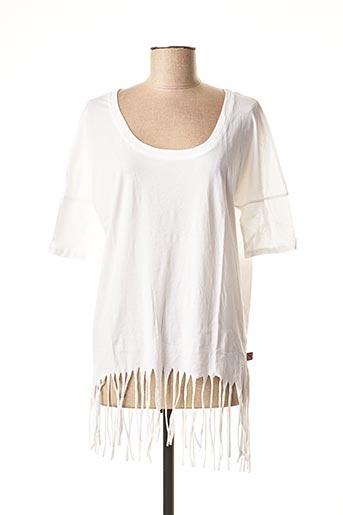 T-shirt manches longues blanc I LOVE MY T'S pour femme