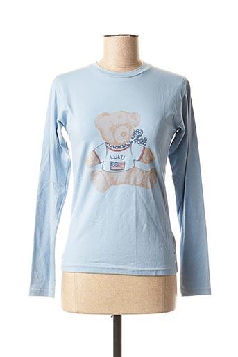 T-shirt manches longues bleu LULUCASTAGNETTE pour femme