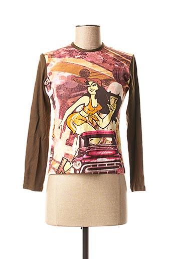 T-shirt manches longues marron LUNA SORETI pour femme