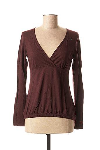 T-shirt manches longues violet AEM'KEI pour femme