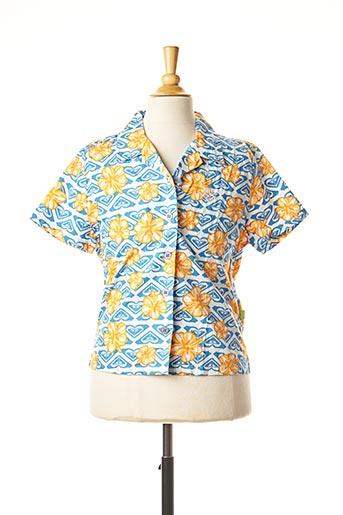 Chemise manches courtes bleu QUIKSILVER pour enfant