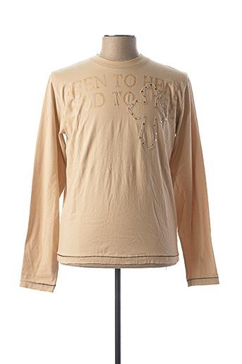 T-shirt manches longues beige GURU pour homme